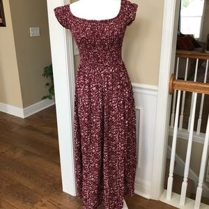 NWOT Red maxi dress size small
